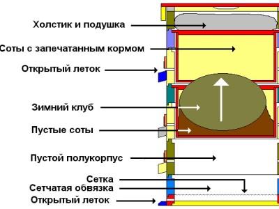 Конструкція вулика для бджіл