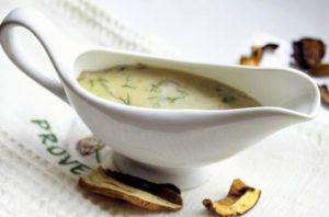 Прості грибні соуси: рецепти