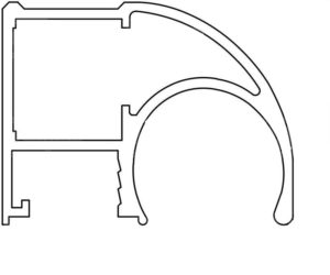 Модифицированный алюминиевый профиль для шкафа купе